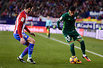 Atletico de Madrid's Sime Vrsaljko and Real Betis's Matias Nahuel during La Liga match between Atletico de Madrid and Real Betis at Vicente Calderon Stadium in Madrid, Spain. January 14, 2017. (ALTERPHOTOS/BorjaB.Hojas)