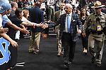 GLENDALE, AZ - APRIL 03: Head coach Roy Williams of the North Carolina Tar Heels walks to the locker after warm-ups prior to tip-off during the 2017 NCAA Men's Final Four National Championship game at University of Phoenix Stadium on April 3, 2017 in Glendale, Arizona.  (Photo by Jamie Schwaberow/NCAA Photos via Getty Images)