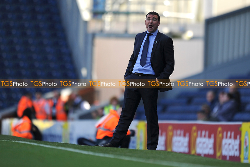 Blackburn Rovers manager Gary Bowyer during Blackburn Rovers vs Charlton Athletic, Sky Bet Championship Football at Ewood Park, Blackburn, England on 19/09/2015