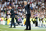 Real Madrid's coach Zinedine Zidane (r) and Ataletico de Madrid's coach Diego Pablo Cholo Simeone during Champions League 2016/2017 Semi-finals 1st leg match. May 2,2017. (ALTERPHOTOS/Acero)