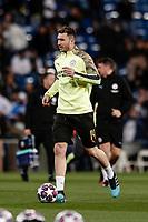 26th February 2020; Estadio Santiago Bernabeu, Madrid, Spain; UEFA Champions League Football, Real Madrid versus Manchester City; Aymeric Laporte (Manchester City)  Pre-match warm-up