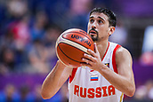 7th September 2017, Fenerbahce Arena, Istanbul, Turkey; FIBA Eurobasket Group D; Russia versus Great Britain; Guard Aleksei Shved #1 of Russia performs free throw during the match
