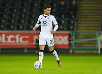 2nd January 2020; Liberty Stadium, Swansea, Glamorgan, Wales; English Football League Championship, Swansea City versus Charlton Athletic; Yan Dhanda of Swansea City brings the ball forward -Strictly Editorial Use Only. No use with unauthorized audio, video, data, fixture lists, club/league logos or 'live' services. Online in-match use limited to 120 images, no video emulation. No use in betting, games or single club/league/player publications