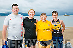 l-r  John Quilter, Fenit, Rosarie Quilter, Fenit, Vicky McCarthy, Tralee and Dean Ferrell, Tralee at the Fenit Triathlon Club Tri Kingdom Come Triathlon on Saturday