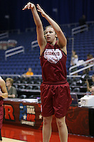 SAN ANTONIO, TX - APRIL 4:  Kayla Pedersen at practice on April 4, 2010 at the Alamo Dome in San Antonio, Texas.