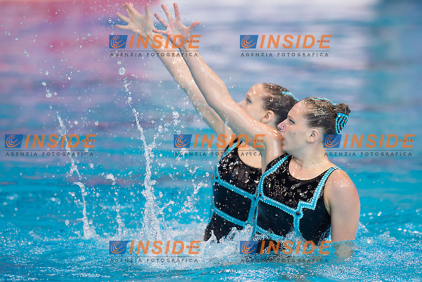 MECHNIG Lara  LIE SCHIERSCHER Marluce  LIE<br /> London, Queen Elizabeth II Olympic Park Pool <br /> LEN 2016 European Aquatics Elite Championships <br /> Synchronised Swimming Synchro Duet Tech<br /> Day 06 13-05-2016<br /> Photo Giorgio Scala/Deepbluemedia/Insidefoto