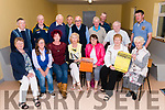 The launch of the West Kerry Agricultural show at the Dingle Mart. Front left: Miriam Fitzgerald, Lynne Stratton, Martine Moriarty, Nora Joyce, Maire Flahive, Helen Griffin, Anne-Marie Ní Shé. Back left: Paudie Begley, Michael Kelliher, Paddy Kennelly, Thomas O'Sullivan, Derry Purphy, James Brosnan, Moss Murphy, Paddy Browne, Giles Hoffman.