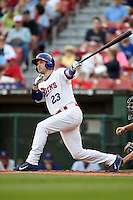 Buffalo Bisons outfielder Cole Gillespie (23) at bat during a game against the Pawtucket Red Sox on August 23, 2014 at Coca-Cola Field in Buffalo, New  York.  Buffalo defeated Pawtucket 15-2.  (Mike Janes/Four Seam Images)