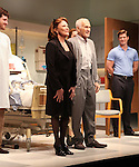 Michael Esper, Linda Lavin, Dick Latessa & Gregory Wooddell.during the Opening Night Performance Curtain Call for Nicky Silver's 'The Lyons' at the Vineyard Theatre in New York City.