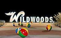 Wildwood New Jersey Sign with Beach Balls.