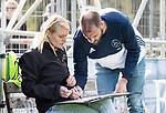 AMSTELVEEN - coach Jesse Mahieu (Pinoke)   met assistent coach Marieke Dijkstra (Pinoke) . Hoofdklasse competitie heren. Pinoke-SCHC (0-1) . COPYRIGHT  KOEN SUYK