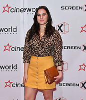 Kat Shoob<br /> Launch party of Cineworld Group's new Korean-developed technology, using projections on the side of theatre walls to create a 270 degree viewing experience, at Cineworld Greenwich, The O2, London, England, UK.<br /> CAP/JOR<br /> &copy;JOR/Capital Pictures