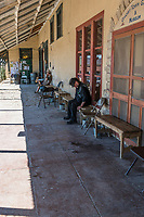 It must be nap time on the Front Porch in Terlingua.