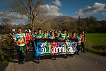 "People run on the 20th Korrika. Erratzu (Basque Country) April 3, 2017. The ""Korrika"" is a relay course, with a wooden baton that passes from hand to hand without interruption, organised every two years in a bid to promote the basque language. The Korrika runs over 11 days and 10 nights, crossing many Basque villages and cities, totalling some 2300 kilometres. Some people consider it an honour to carry the baton with the symbol of the Basques, ""buying"" kilometres to support Basque language teaching. (Gari Garaialde / Bostok Photo)"