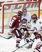 James Marcou (UMass - 19), Parker Milner (BC - 35), Edwin Shea (BC - 8) - The Boston College Eagles defeated the University of Massachusetts-Amherst Minutemen 2-1 (OT) on Friday, February 26, 2010, at Conte Forum in Chestnut Hill, Massachusetts.