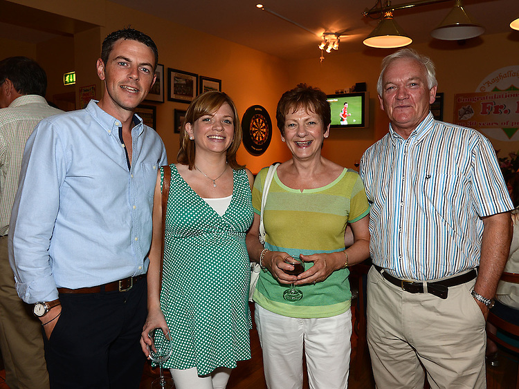 Andrew and Eimear King and Valerie and Pat Carroll pictured at Fr Iggy O'Donovan's 30th anniversary celebrations of his ordination. Photo:Colin Bell/pressphotos.ie