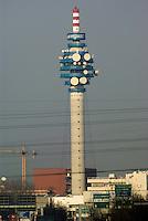 Cologno Monzese (Milano), antenna Mediaset --- Cologno Monzese (Milan), antenna of commercial broadcaster mass media company Mediaset
