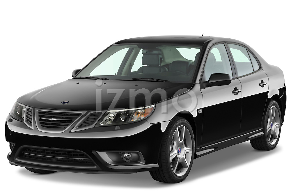 Front three quarter view of a 2008 Saab 93 Turbo X.