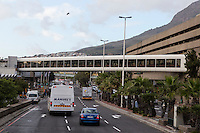 South Africa, Cape Town.  Pedestrian Walkway, Train Station.