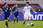 Otabek Shukurov of Uzbekistan (R) in action during the AFC Asian Cup UAE 2019 Group F match between Japan (JPN) and Uzbekistan (UZB) at Khalifa Bin Zayed Stadium on 17 January 2019 in Al Ain, United Arab Emirates. Photo by Marcio Rodrigo Machado / Power Sport Images
