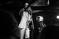 Leon Bridges performs on Sunday, Dec. 6, 2015, at The Bluebird Nightclub in Bloomington, Indiana. (Photo by James Brosher)