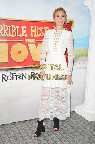 """Jessica Swale at the """"Horrible Histories: The Movie - Rotten Romans"""" world film premiere, Odeon Luxe Leicester Square, Leicester Square, London, England, UK, on Sunday 07th July 2019.<br /> CAP/CAN<br /> ©CAN/Capital Pictures"""