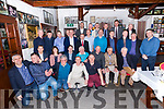 The 1997 team and backroom team gathered at Paidí Ó Sé pub in Ventry on Friday night.Front l-r: Stephen Stack, Darragh Ó Cinnéide, Maurice Fitzgerald, Aoife Ni Mhuiri, Billy Keane, Mike Frank Russell, Gene Farrell, John Kelly, Seamus Moynihan, Declan O'Keeffe, Tom O'Connor, Dr Dave Geaney. Back l-r: Mike Hassett, William Kirby, Sean Burke, Fintan Ashe, Liam Hassett, Barry O'Shea, Sean Kelly, Donal Daly , Eamon Breen, Killian Burns, Peter O'Leary, Tony O'Keefe, Denis O'Dwyer, Tim Murphy (Chairman Kerry County Board), Liam O'Flaherty, Billy O'Shea, Tomás Garvey, and Darragh O'Sé.