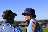 Darius Rucker and Bill Murray at the 4th green at Spyglass Hill during Thursday's Round 1 of the 2018 AT&amp;T Pebble Beach Pro-Am, held over 3 courses Pebble Beach, Spyglass Hill and Monterey, California, USA. 8th February 2018.<br /> Picture: Eoin Clarke | Golffile<br /> <br /> <br /> All photos usage must carry mandatory copyright credit (&copy; Golffile | Eoin Clarke)