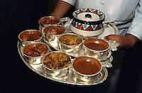 Thali im  Hotel Oberoi, Delhi, Indien