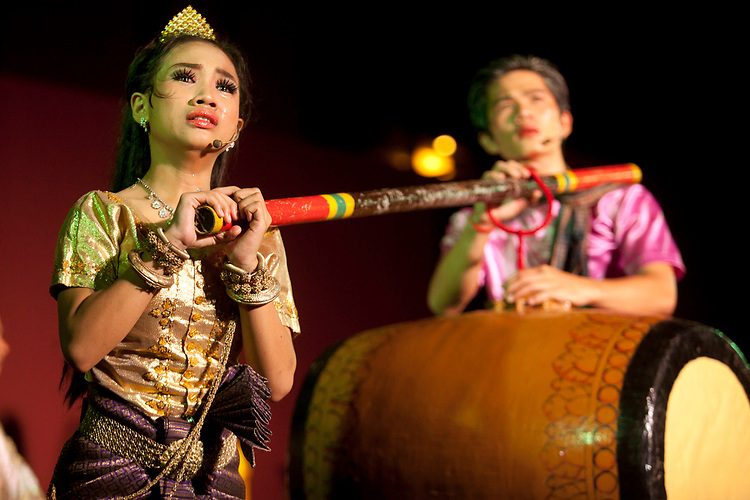 Performance of a traditional Cambodian Opera by the Cambodian Living Arts Organization at the National Museum in Phnom Penh, Cambodia. <br /> <br /> Photos &copy; Dennis Drenner 2013.