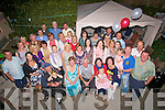 Brendan&Poppy Cregan(seated centre)from Mitchell's Court,Tralee celebrated their 40th wedding annaversary(Ruby)last Saturday night with a fab home garden barbaque with many friends,neighbours and family.