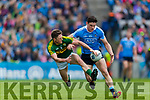 Jonathan Lyne Kerry in action against Diarmuid Connolly Dublin at the National League Final in Croke Park on Sunday.