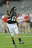 6 December 2008:  FIU quarterback Paul McCall (12) throws a touchdown in the fourth quarter of the FIU 27-3 victory over Western Kentucky at FIU Stadium in Miami, Florida.