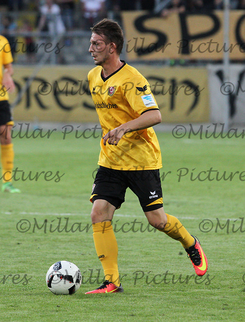 Marc Wachs in the Dynamo Dresden v Everton match in the Bundeswehr Karriere Cup Dresden 2016 played at the DDV Stadion, Dresden on 29.7.16.