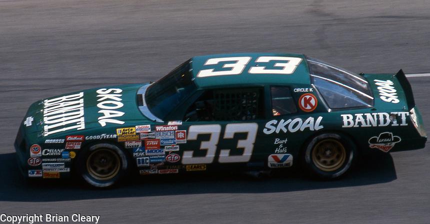 Harry Gant (33) Chevrolet 12th place  Motorcraft 500 at Atlanta International Raceway in Hampton, GA on March 16, 1986.   (Photo by Brian Cleary/www.bcpix.com)