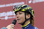 Annemiek Van Vleuten (NED) Orica-Scott at sign on before the start of the Ladies 2017 Strade Bianche running 127km from Siena to Siena, Tuscany, Italy 4th March 2017.<br /> Picture: Eoin Clarke | Newsfile<br /> <br /> <br /> All photos usage must carry mandatory copyright credit (&copy; Newsfile | Eoin Clarke)