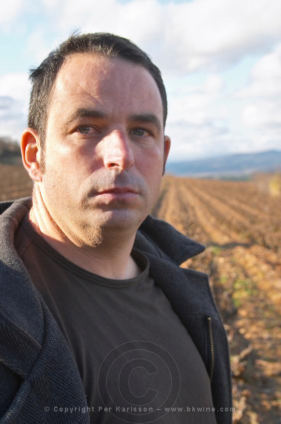 Jean-Baptiste Senat Domaine Jean Baptiste Senat. In Trausse. Minervois. Languedoc. Owner winemaker. France. Europe.