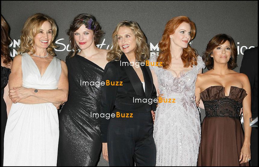 "JESSICA LANGE, MILLA JOVOVICH, LAUREN HUTTON, MARCIA CROSS ET EVA LONGORIA - "" MONTBLANC SIGNATURE FOR GOOD CHARITY GALA IN HOLLYWOOD "".LOS ANGELES, 20/02/09. .."