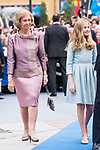 Queen Sofia of Spain and Princess of Asturias Leonor arrive to Teatro Campoamor for Princess of Asturias Awards 2019 in Oviedo. October 18, 2019 (Alterphotos/ Francis Gonzalez)