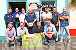 The launch of the Tommy Griffin Over35 Football Tournament in Dingle.<br />  Front left: Micheal Ó Conchuir, Tommy Griffin, Breandan McGearailt, Padraig and little Fergal Corcoran. Back left: Murt Moriarty, Tom Óg O'Brien, Patrick Sheehy, John Foley, Colm Neylon, Colm Geaney, Colm Hanafin and Vinnie Flannery.