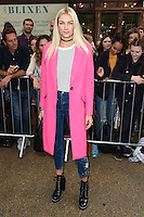 Jessica Hart<br /> arrives for the TopShop UNIQUE catwalk show as part of London Fashion Week SS17, Old Spitalfields Market, London<br /> <br /> <br /> &copy;Ash Knotek  D3155  17/09/2016