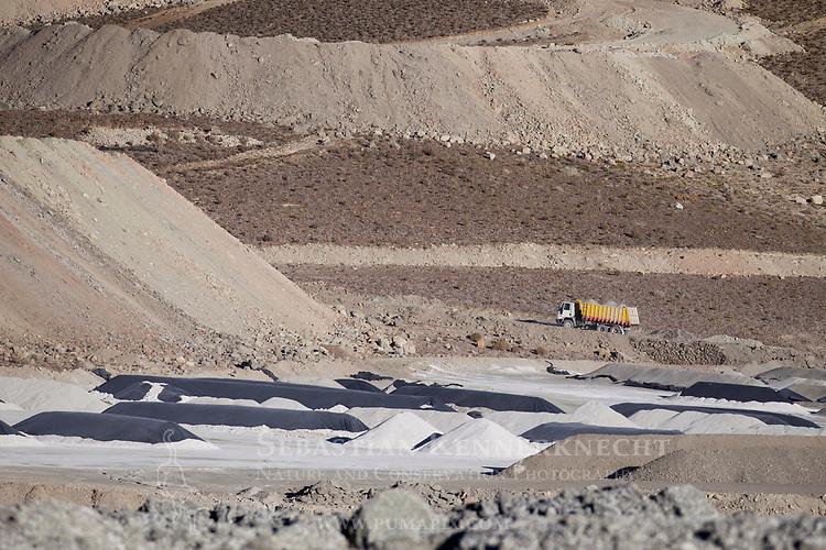 Borax mine, Loma Blanca Mine, Andes, northwestern Argentina