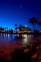 King Kamehameha Hotel Just after sunset Kailua Kona, Big Island, Hawaii, Pacific Ocean