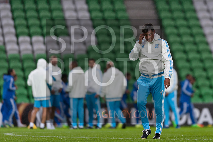 Voetbal: 16-9-2015,UEFA, Fc Groningen vs Olympique de Marseille,training,Michel coach of Olympique de Marseille