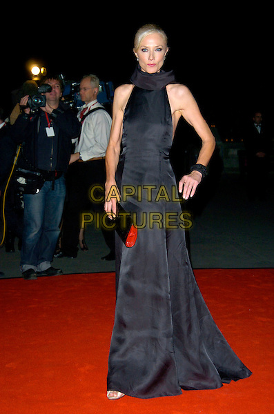 JOELY RICHARDSON.The Cartier VIP gala dinner, Natural History Museum, London, England..October 17th, 2007.full length black dress bracelet collar sleeveless bag purse .CAP/CAN.©Can Nguyen/Capital Pictures