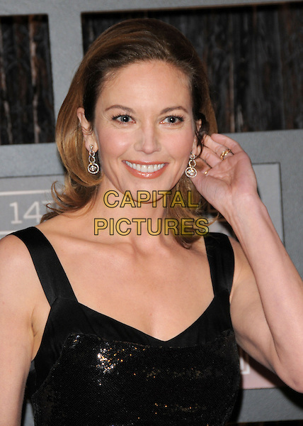 DIANE LANE .The 14th Annual Critics Choice Awards held at The Santa Monica Civic Center in Santa Monica, California, USA. .January 8th, 2009.headshot portrait hand earrings black sequined sequined .CAP/DVS.©Debbie VanStory/Capital Pictures.