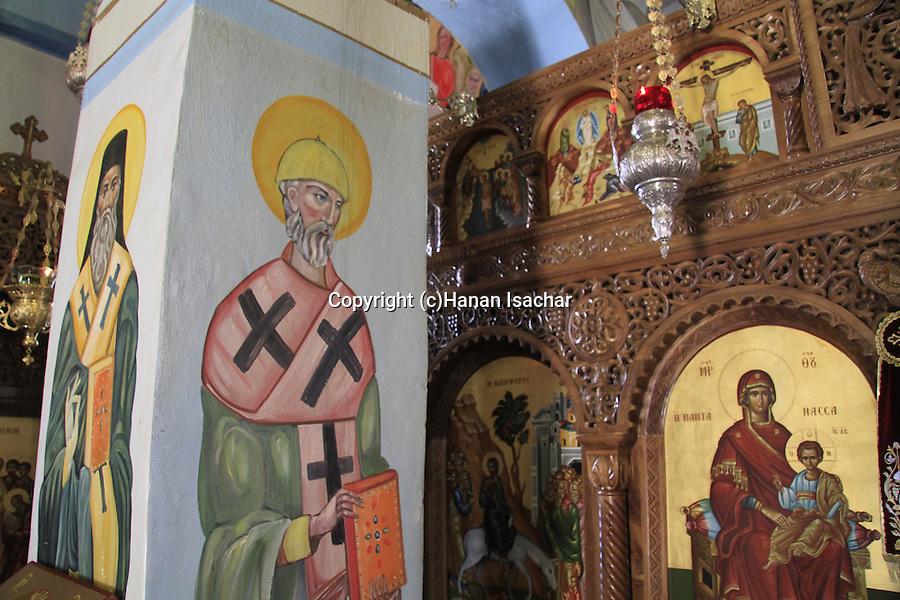 Israel, Jerusalem, the Greek Orthodox Church of Bethphage on the Mount of Olives