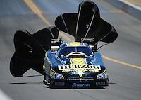Jul. 18, 2010; Sonoma, CA, USA; NHRA funny car driver Tony Pedregon during the Fram Autolite Nationals at Infineon Raceway. Mandatory Credit: Mark J. Rebilas-