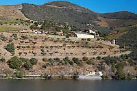 douro river and steep vineyards quinta dona matilde douro portugal