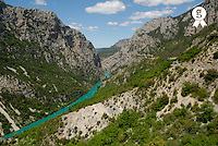 France, Provence-Alpes-Cote d'Azur, Alpes-de-Haute-Provence, Verdon river gorges (Licence this image exclusively with Getty: http://www.gettyimages.com/detail/sb10061763n-001 )